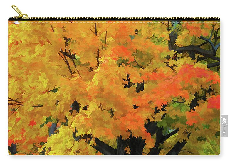 Simple And Elegant Carry-all Pouch featuring the painting Simple And Elegant by Jeelan Clark