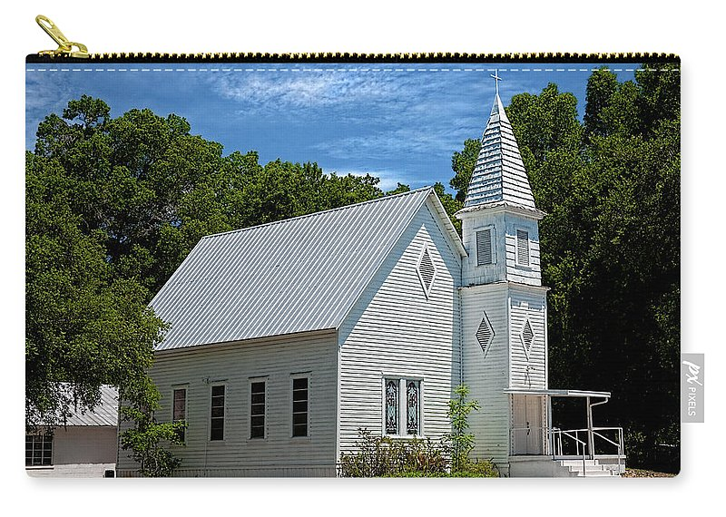 Structure Carry-all Pouch featuring the photograph Simple Country Church by Christopher Holmes