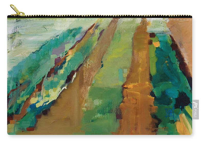 Impressionistic Landscape Carry-all Pouch featuring the painting Simple Fields by Michele Norris