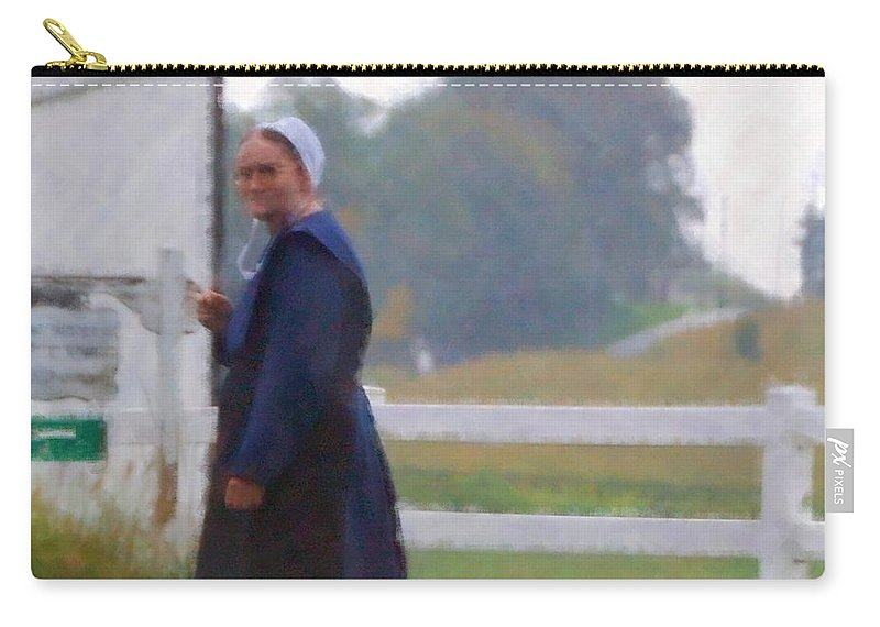 Amish Carry-all Pouch featuring the photograph Simple Living by Debbi Granruth