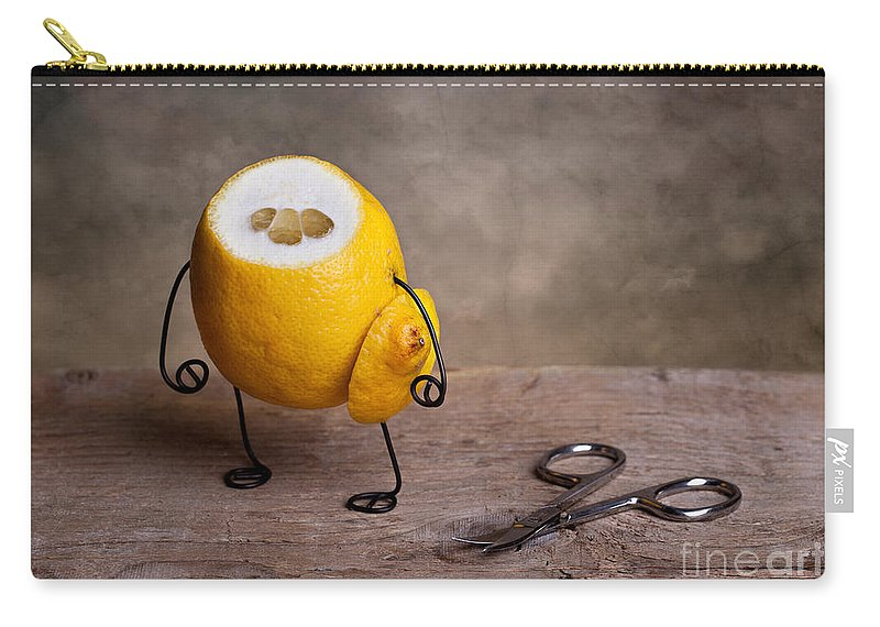 Lemon Carry-all Pouch featuring the photograph Simple Things 11 by Nailia Schwarz