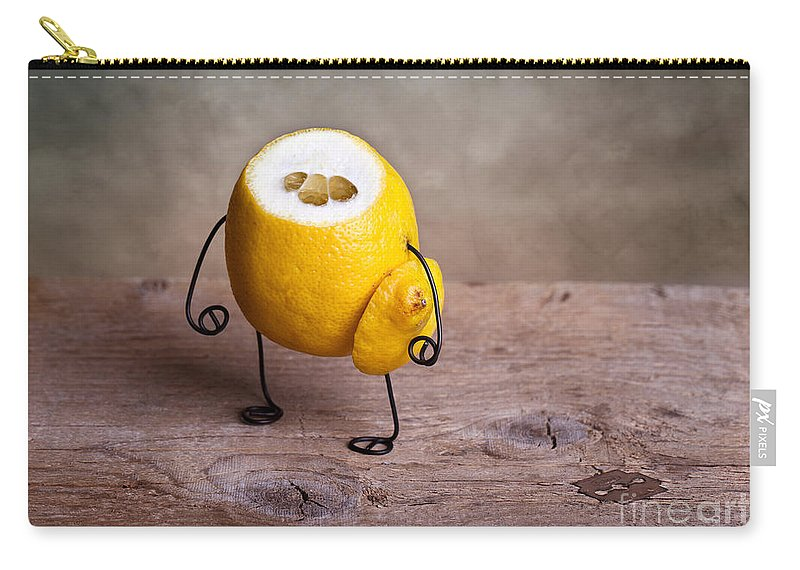 Lemon Carry-all Pouch featuring the photograph Simple Things 12 by Nailia Schwarz