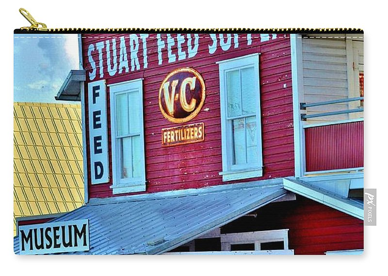 Stuart Feed Supply Carry-all Pouch featuring the photograph Simpler Time by Lisa Renee Ludlum