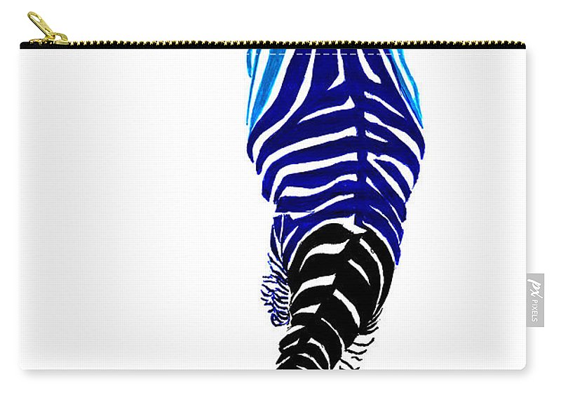 Zebra Carry-all Pouch featuring the drawing Simplified Confusion by Kayleigh Semeniuk