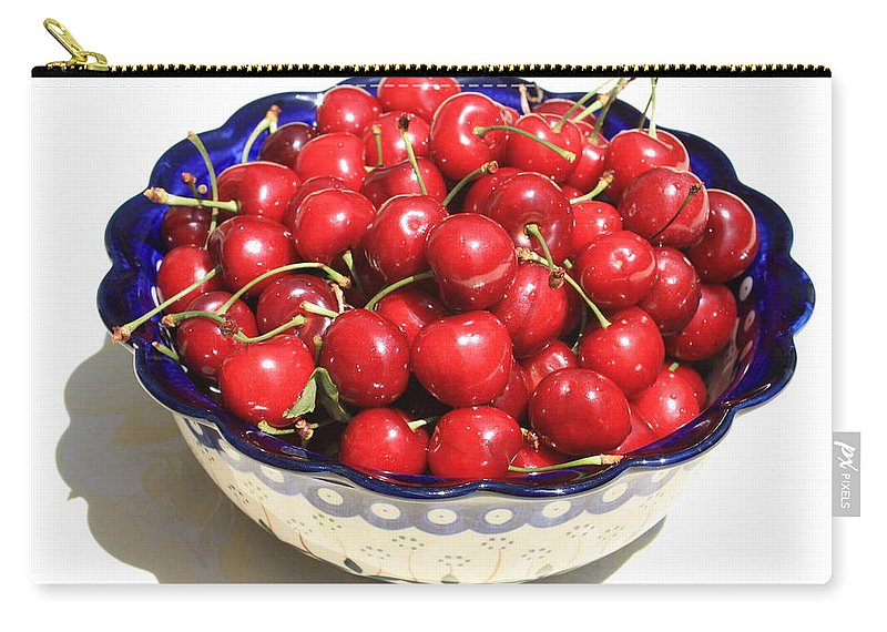 Cherries Carry-all Pouch featuring the photograph Simply A Bowl Of Cherries by Carol Groenen