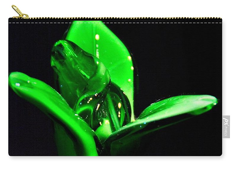 Flower Carry-all Pouch featuring the photograph Simply Green by Jennifer Wick