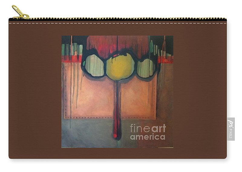 Metallic Carry-all Pouch featuring the painting Simply Riveting by Marlene Burns