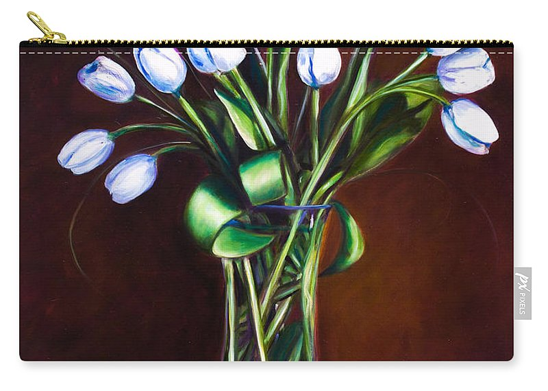 Shannon Grissom Carry-all Pouch featuring the painting Simply Tulips by Shannon Grissom