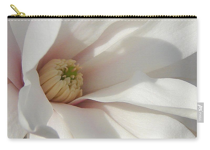 Carry-all Pouch featuring the photograph Simply White by Luciana Seymour