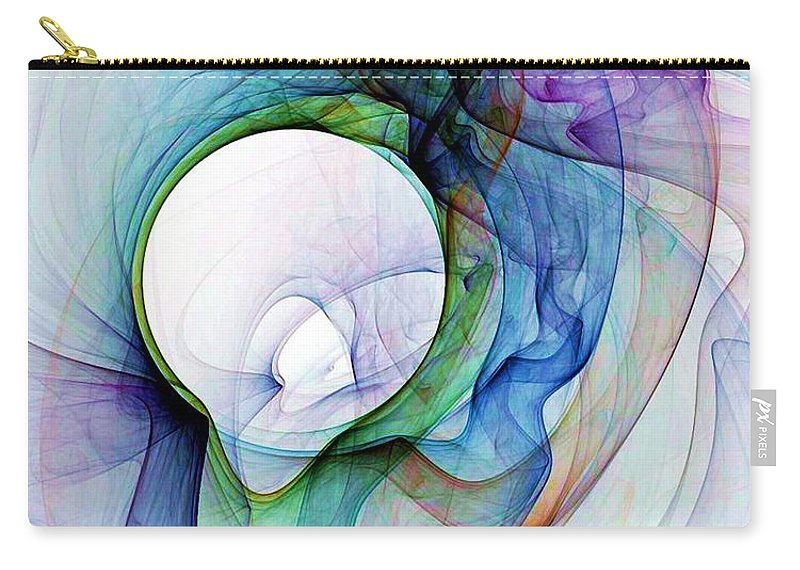 Smoke Carry-all Pouch featuring the digital art Simulated Colored Smoke by Ron Bissett