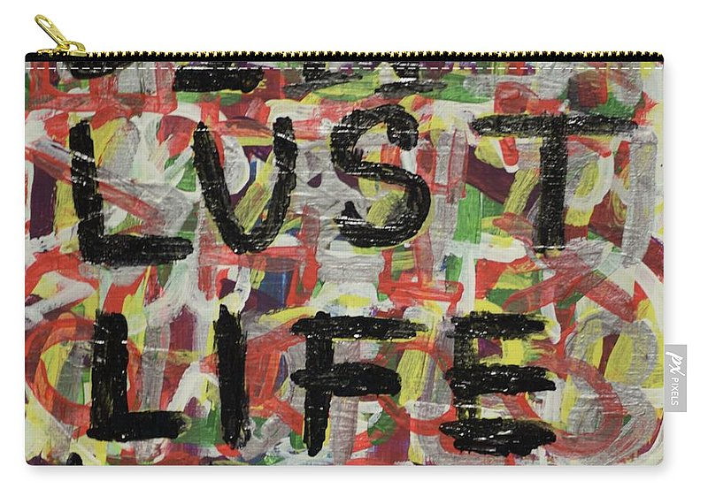 Abstract Carry-all Pouch featuring the painting Sin by Aj Watson