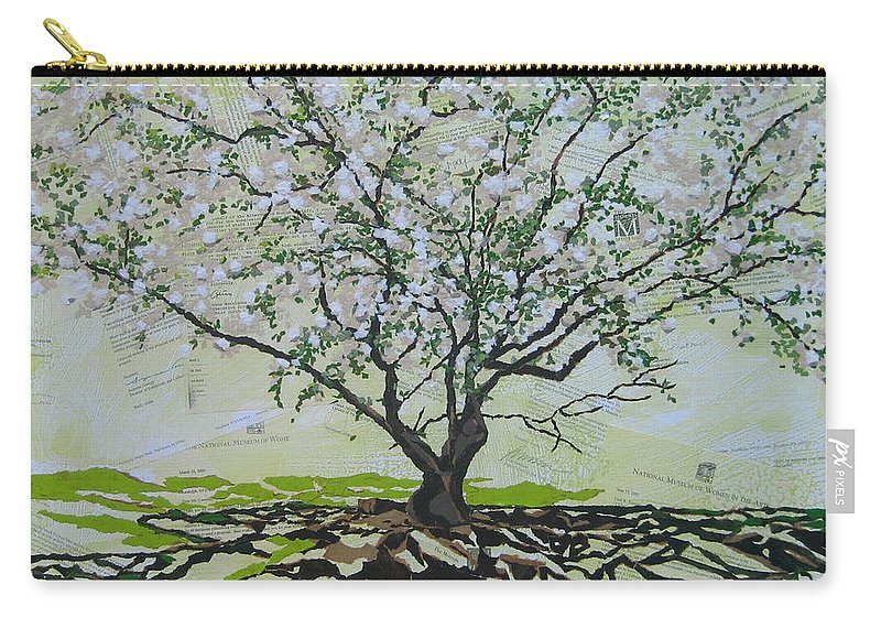 Apple Tree Carry-all Pouch featuring the painting Sincerely-the Curator by Leah Tomaino