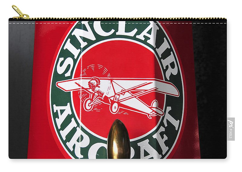 Fine Art Photography Carry-all Pouch featuring the photograph Sinclair Aircraft Fuel Pump by David Lee Thompson