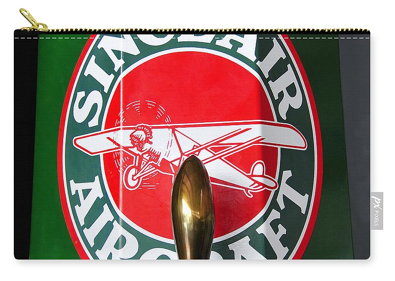 Fine Art Photography Carry-all Pouch featuring the photograph Sinclair Aircraft Pump by David Lee Thompson