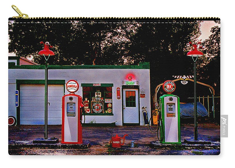 Gas Station Carry-all Pouch featuring the photograph Sinclair by Steve Karol