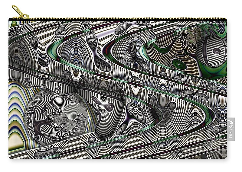Abstract Carry-all Pouch featuring the digital art Sine Worlds by Ron Bissett
