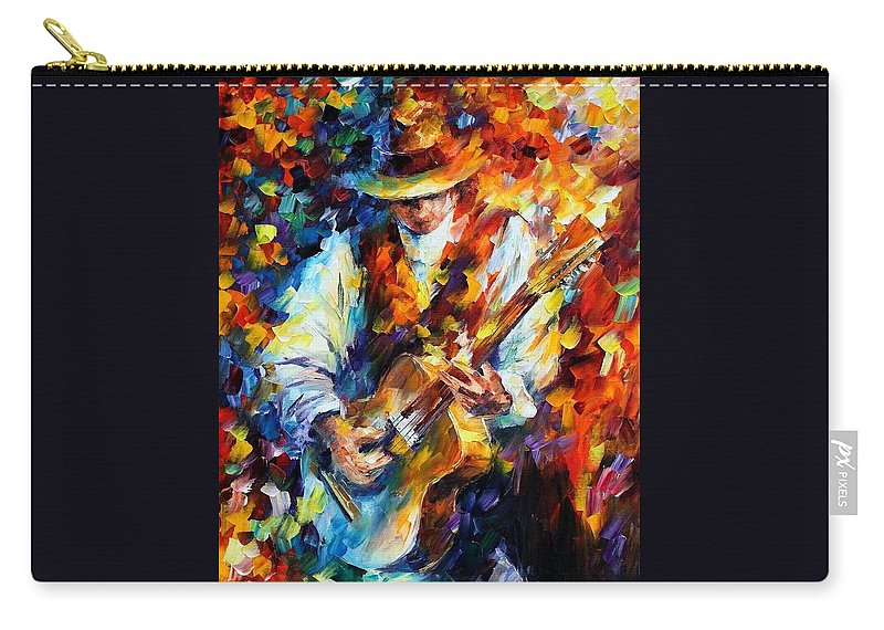 Afremov Carry-all Pouch featuring the painting Sing My Guitar by Leonid Afremov