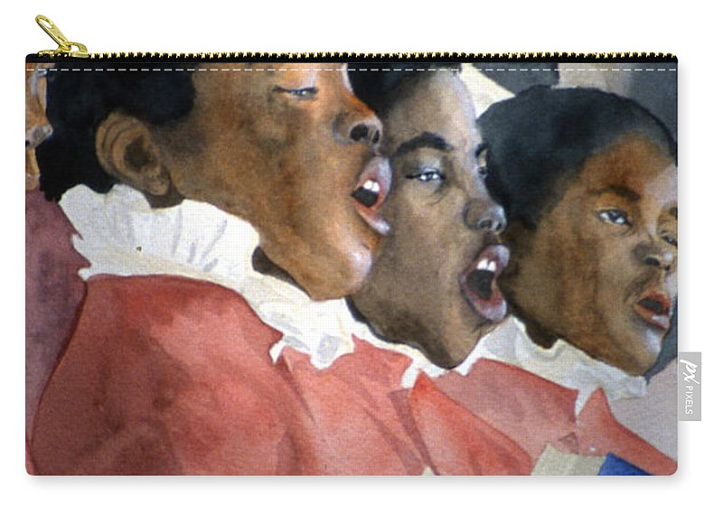 Choir Carry-all Pouch featuring the painting Sing Out Your Joy by Jean Blackmer