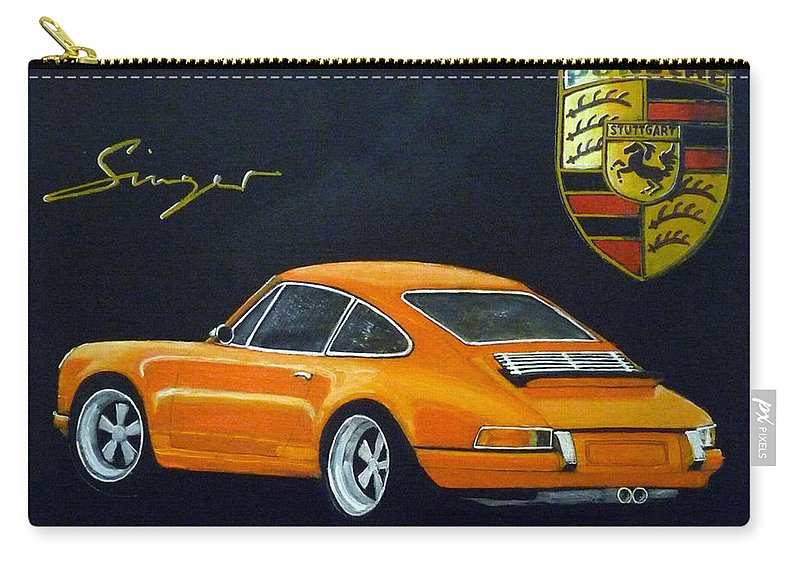 Cars Carry-all Pouch featuring the painting Singer Porsche by Richard Le Page