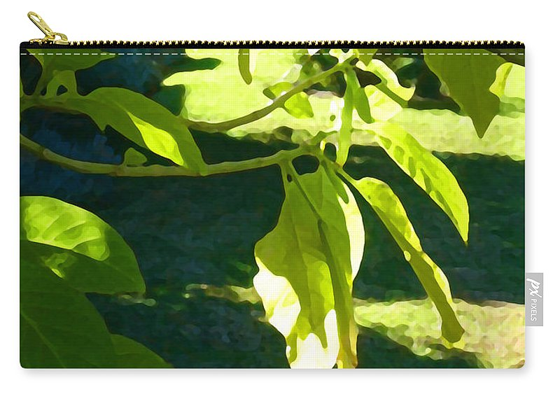 Spring Carry-all Pouch featuring the painting Single Angel's Trumpet by Amy Vangsgard
