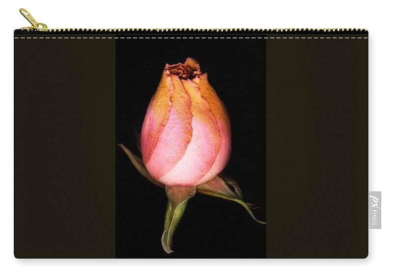 Rose Carry-all Pouch featuring the photograph single Rose by Marilyn Hunt