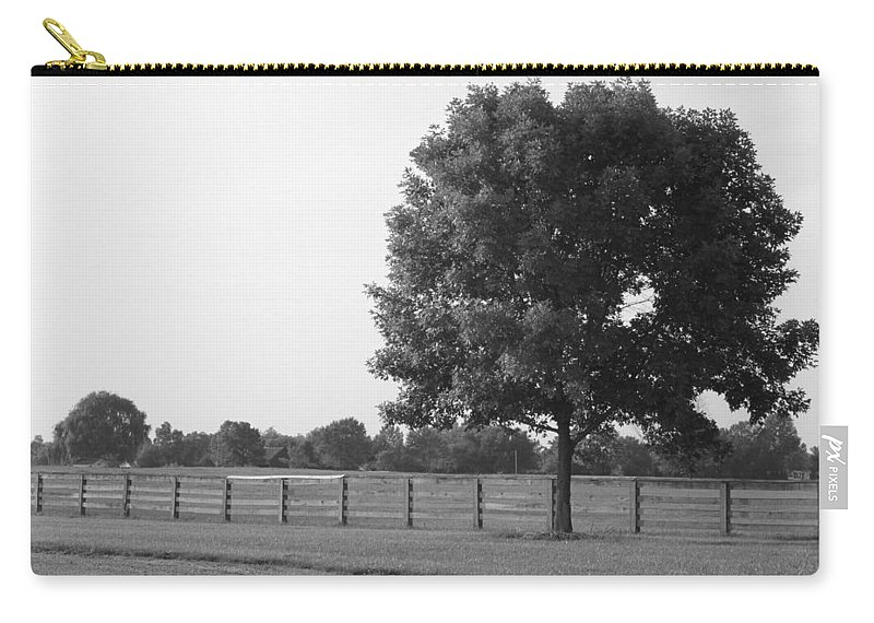 Tree Carry-all Pouch featuring the photograph Single Tree by Lauri Novak
