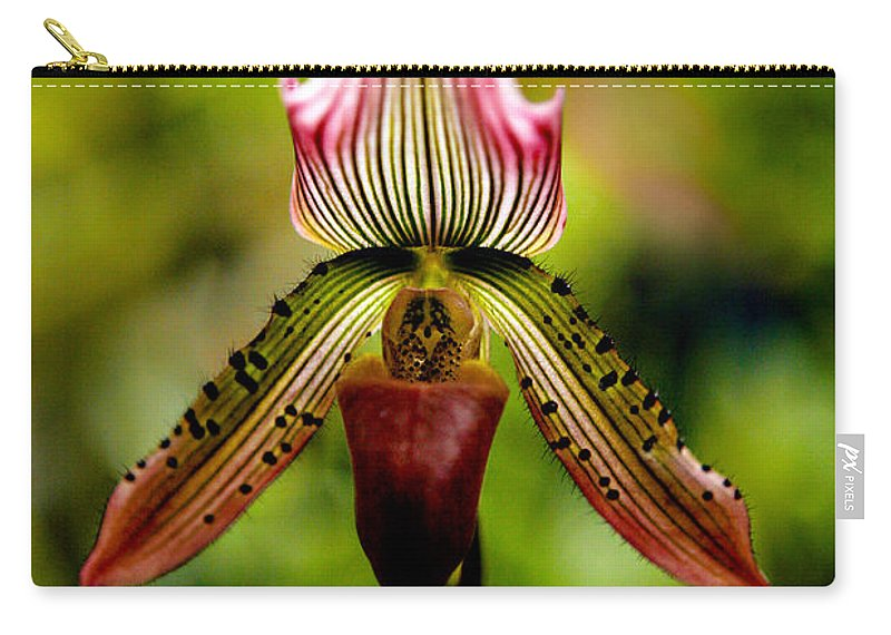 Orchid Carry-all Pouch featuring the photograph Singular Beauty by Marilyn Hunt