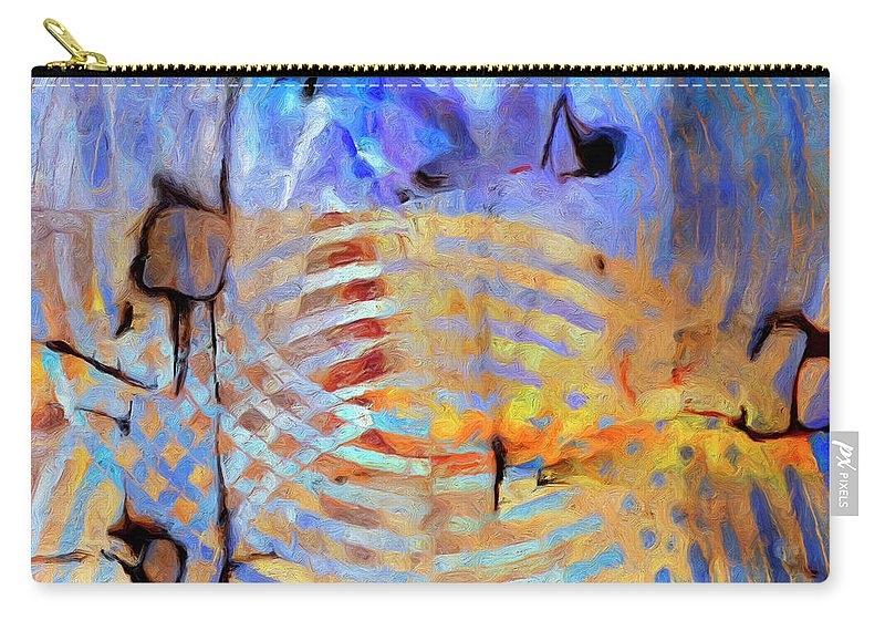 Abstract Carry-all Pouch featuring the painting Singularity by Dominic Piperata