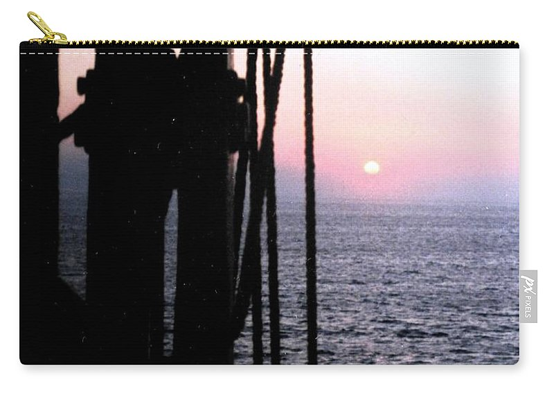 Ship Carry-all Pouch featuring the photograph Sinking Sun by Ian MacDonald