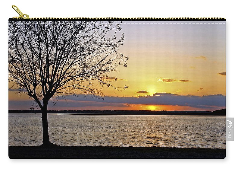 Sunset Carry-all Pouch featuring the photograph Sinking Sun by Phill Doherty
