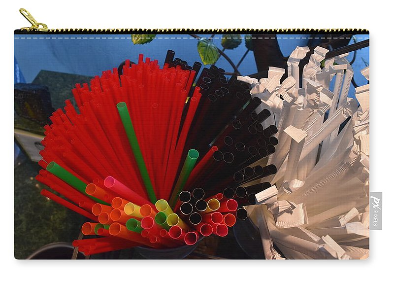 Straws Carry-all Pouch featuring the photograph Sippers by Thomas Sexton
