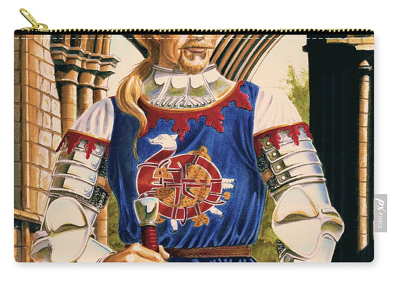 Swords Carry-all Pouch featuring the painting Sir Dinadan by Melissa A Benson