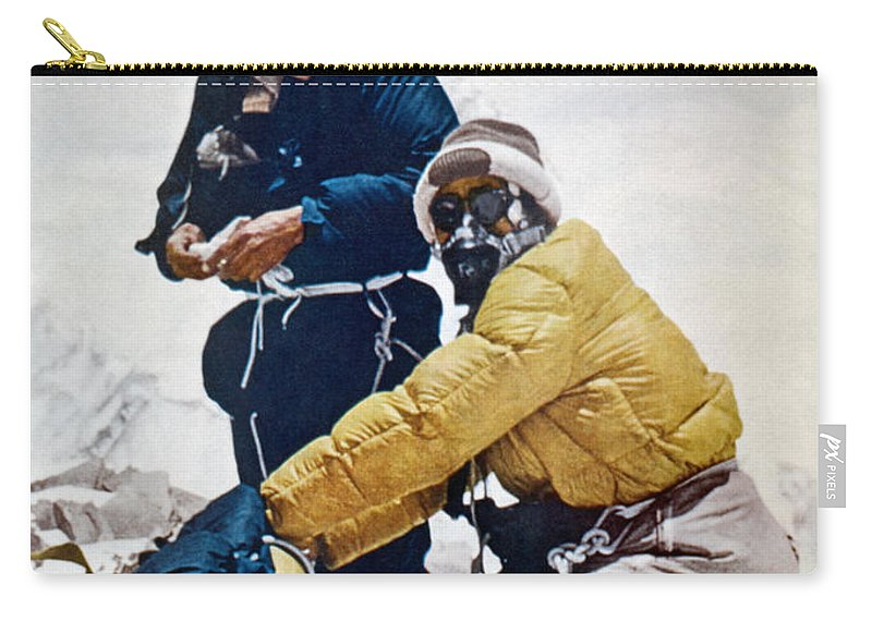 1953 Carry-all Pouch featuring the painting Sir Edmund Hillary by Granger
