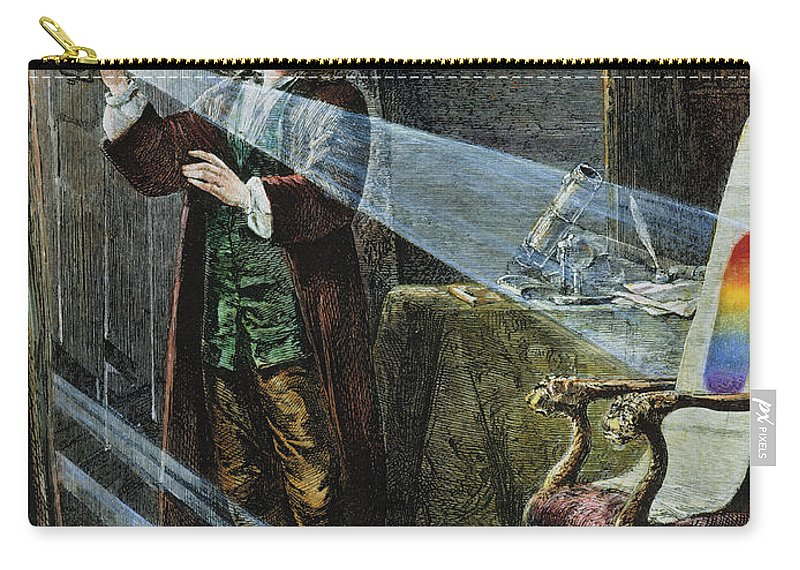 18th Century Carry-all Pouch featuring the photograph Sir Isaac Newton by Granger