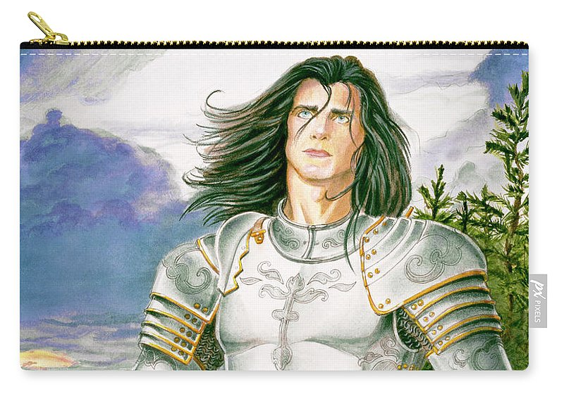 Swords Carry-all Pouch featuring the painting Sir Lancelot by Melissa A Benson