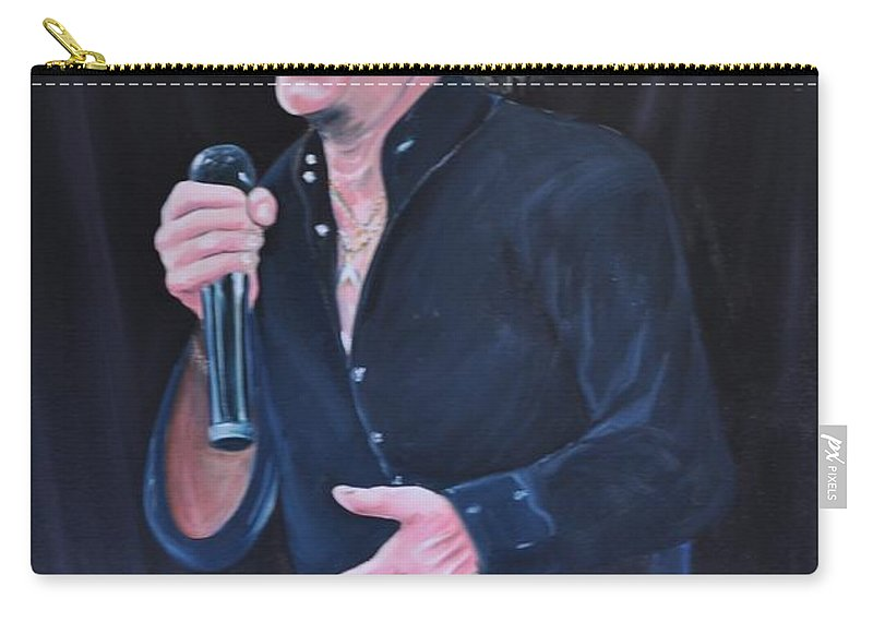 Musician Art Carry-all Pouch featuring the painting Sir Rod Stewart by Gordon Roy