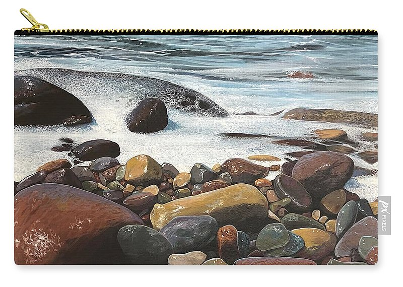 Ocean Carry-all Pouch featuring the painting Siren's Call by Hunter Jay