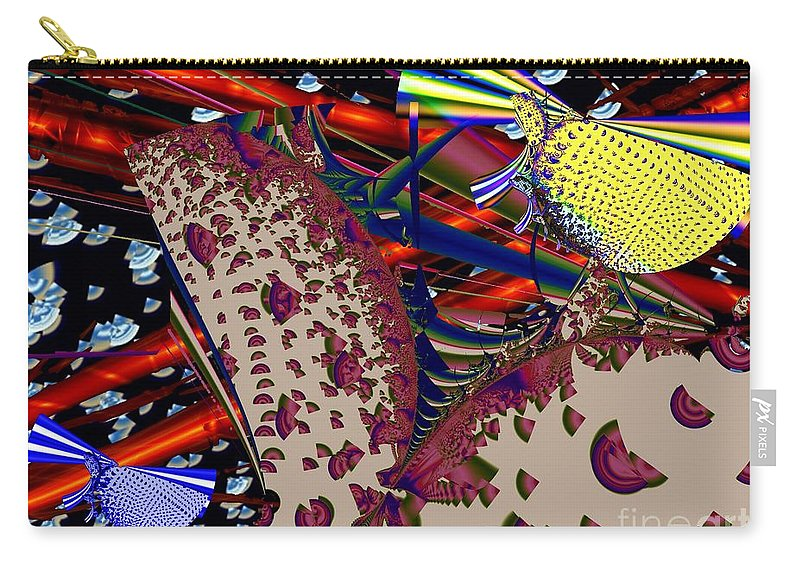 Siren Carry-all Pouch featuring the digital art Sirens by Ron Bissett