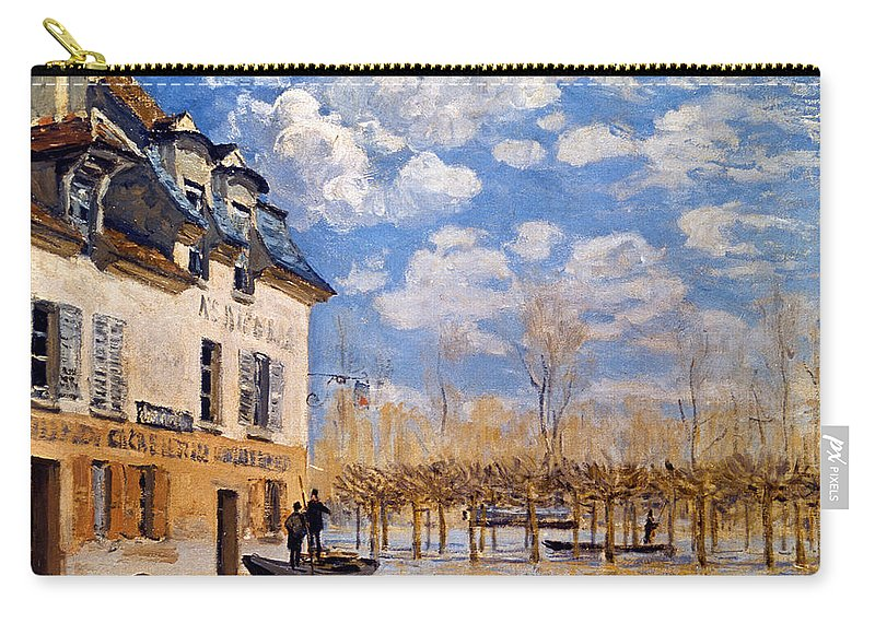 1876 Carry-all Pouch featuring the photograph Sisley: Flood, 1876 by Granger