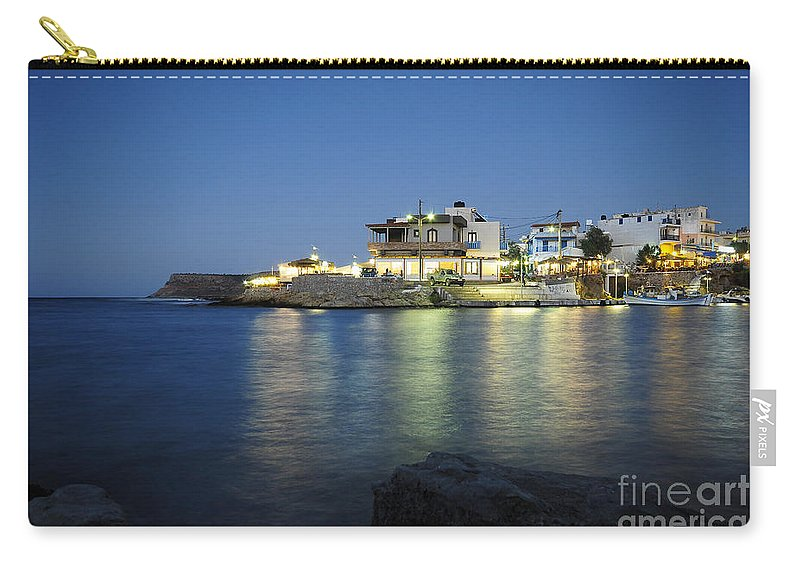 Sissi Carry-all Pouch featuring the photograph Sissi, Crete by Smart Aviation