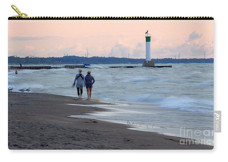 Grand Bend Carry-all Pouch featuring the photograph Sisterly Love by John Scatcherd