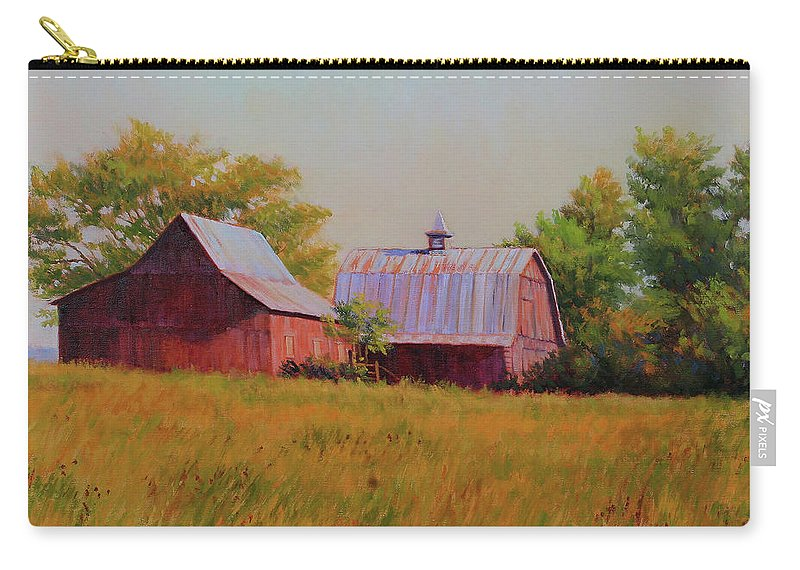 Barns Carry-all Pouch featuring the painting Sisters by Keith Burgess