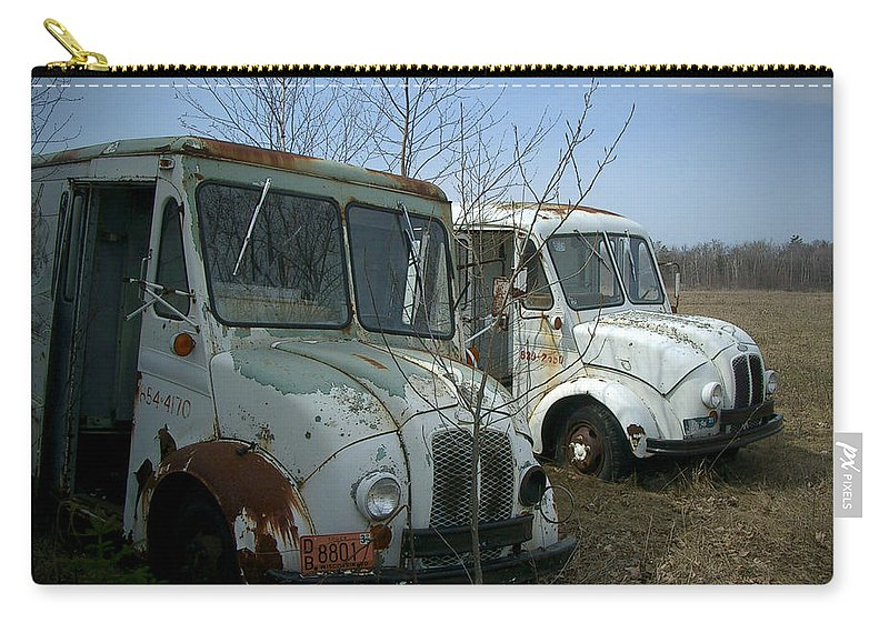 Trucks Carry-all Pouch featuring the photograph Sisters by Tim Nyberg