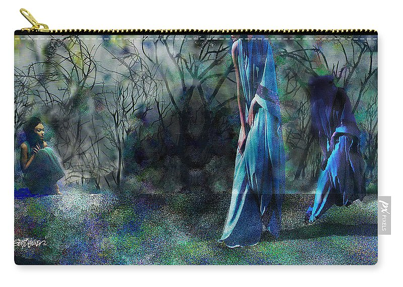 Sisters Of Fate Carry-all Pouch featuring the photograph Sisters Of Fate by Seth Weaver