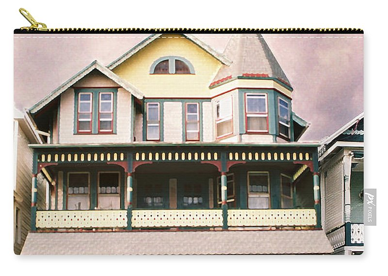 Landscape Carry-all Pouch featuring the photograph Sisters panel three of Triptych by Steve Karol