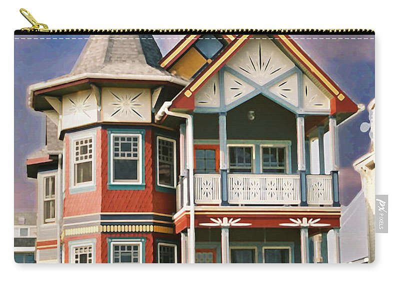 Landscape Carry-all Pouch featuring the photograph Sisters panel two of Triptych by Steve Karol