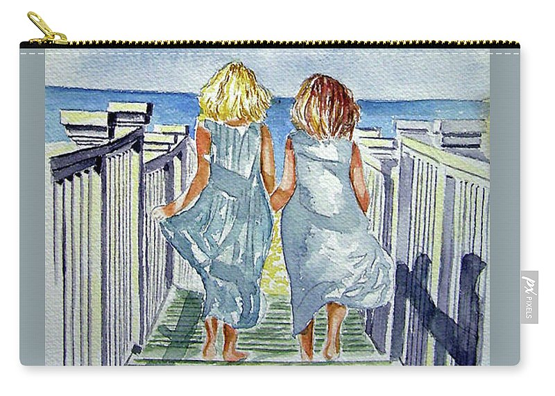 Sisters Carry-all Pouch featuring the painting Sisters by Paul SANDILANDS