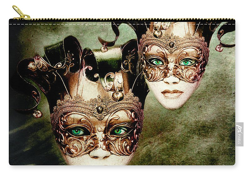 Woman Carry-all Pouch featuring the digital art Sisters by Jacky Gerritsen