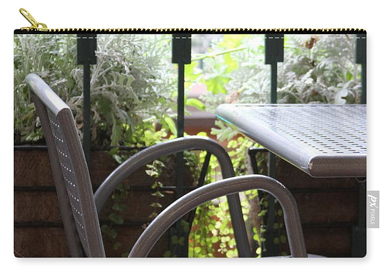 Chair Carry-all Pouch featuring the photograph Sit A While by Laddie Halupa