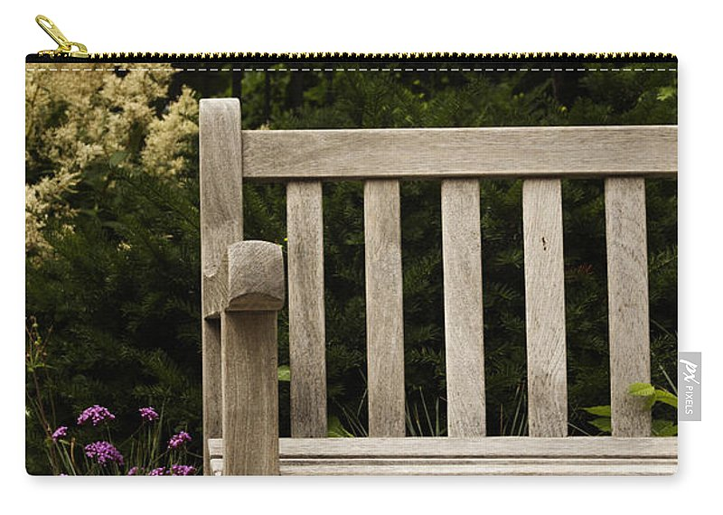 Bench Carry-all Pouch featuring the photograph Sit For A Bit by Margie Hurwich